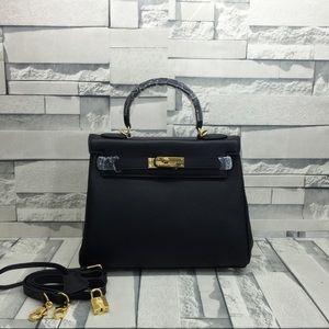 Hermès genuine Togo leather inspired